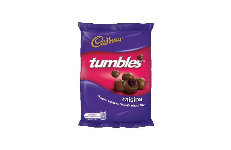 Cadbury Tumbles 36x65g Raisins