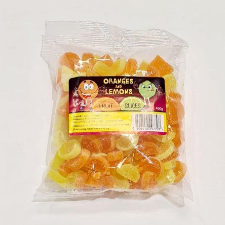 Cartoon Candy Oranges & Lemons Slices 400g