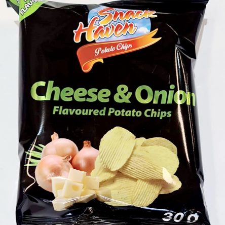 Suz Snack Haven Potato Chips Cheese & Onion 24x30g